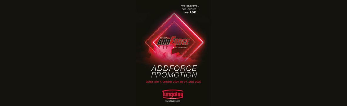 Tungaloy AddForce Promotion